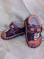 """Туфли для малыша """"Sport""""(коричневый/оранжевый) р-р 14"""