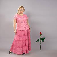 Длинная летняя юбка IN  14015 Розовый