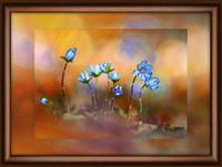"""Набор Crystal Art """"Лесные цветы"""" для изготовления картины своими руками"""