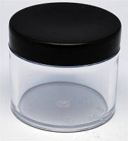 Ємкість прозора з чорною кришкою 60 мл
