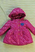Детская Куртка на девочку мишка бордо  на рост 86-110см