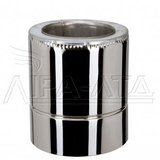 Труба-сэндвич дымоходная (термо) 0,3 метра 0,8 мм н/н AISI 304