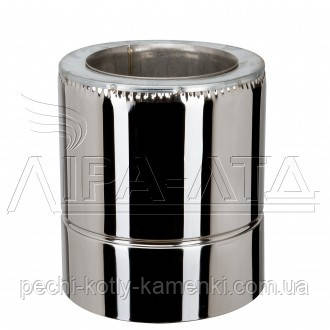 Труба-сэндвич дымоходная (термо) 0,3 метра 0,8 мм н/н AISI 304, фото 2