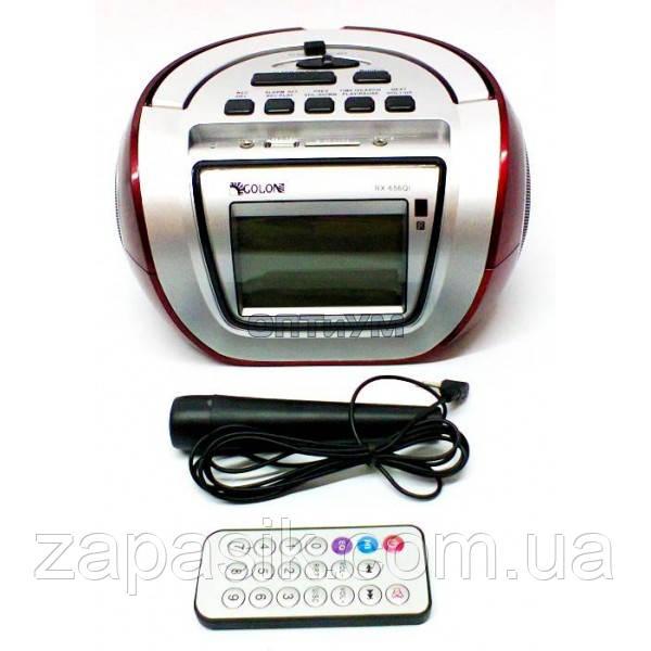 Бумбокс Колонка Golon RX 656 Q Караоке Часы - Оптовый интернет-магазин ZAPASIK в Одессе