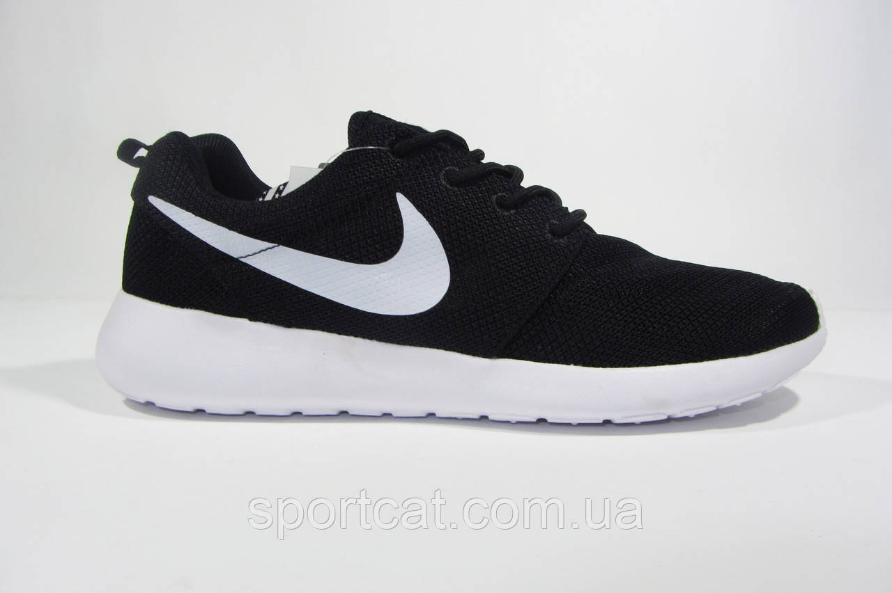 4eaf4932 Мужские повседневные кроссовки Nike Roshe Run, сетка, черные, Р. - Интернет-
