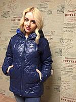 Женская зимняя куртка на меховой подкладке с капюшоном