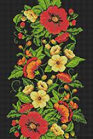 """Схема для вышивки бисером """"Панно с полевыми цветами"""""""
