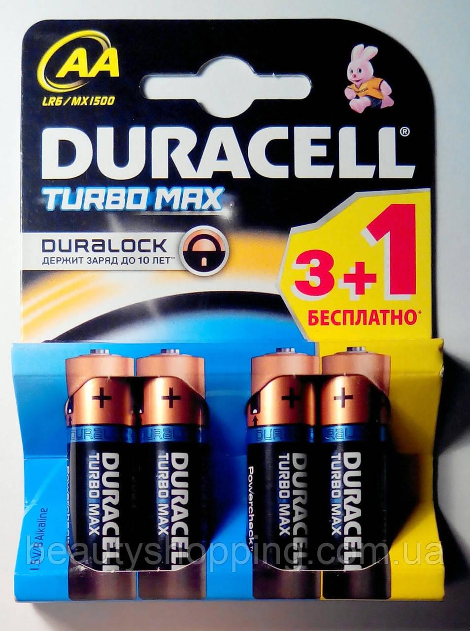 Батарейки Duracell Turbo Max AA