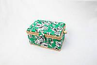 Симпатичная корзинка для рукоделия (28*17,5*15,5 см).