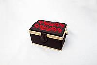 """Деревянная шкатулка ручной работы """"Орнамент"""" (28*17,5*15,5 см). подарок в украинском стиле"""