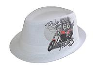 """Шляпы оптом Джокер фотопринт лен """"Мото 66"""""""