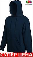 Мужская кофта толстовка кенгуру з капюшоном теплая Цвет Глубокий Тёмно-Синий Размер Xl 62-208-Az Xl
