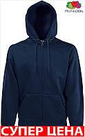 Мужская кофта толстовка с капюшоном на змейке теплая Цвет Глубокий Тёмно-Синий Размер Xxl 62-062-Az Xxl
