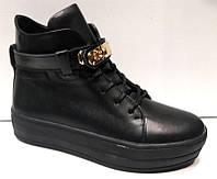 Ботинки стильные женские черные Hermes Uk0185