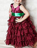 Детское  яркое платье, юбка воланы, фото 3