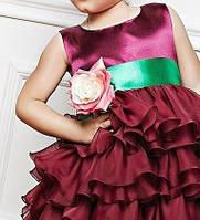Детское  яркое платье, юбка воланы, фото 2