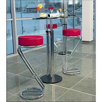 Стул Zeta hoker chrome (барный стул , для кафе , бара, дома) Новый Стиль