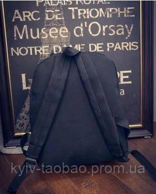 Рюкзак городской из холста с принтом