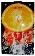 """Газовый проточный водонагреватель ИСКРА JSD 20 LCD MT-1 принт """"апельсин""""(стекло) - 10 л\мин"""
