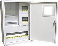 Щит ШМР-3ф.мех-24А-Н распределительный металлический для 3ф. индукц. счетчика и 24 автоматов навесной