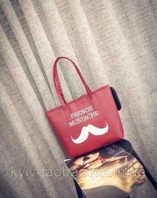 Сумка French Mustache красная