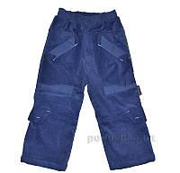 Штаны утепленные вельветовые Одягайко 01056 синие 26