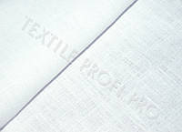 Льняная костюмная ткань (белого цвета)