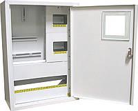Щит ШМР-3ф.эл.-24А-Н распределительный металлический для 3ф. электронного счетчика и 24 автоматов навесной