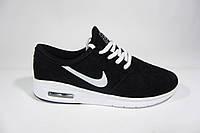 Мужские кроссовки Nike, сетка, черные, Р. 46