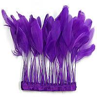 Тесьма перьевая(реснички).Цвет Фиолетовый. Цена за 0.5м