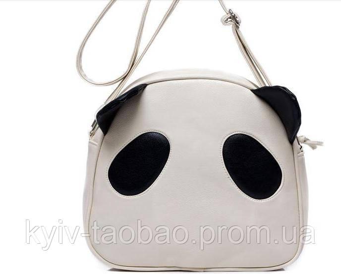 Сумка на плече панда белый