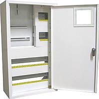 Щит ШМР-3ф.мех-36А-Н распределительный металлический для 3ф. индукц. счетчика и 36 автоматов навесной