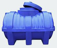 Ёмкость полиэтиленовая горизонтальная двухслойная 1000 литров с ребром