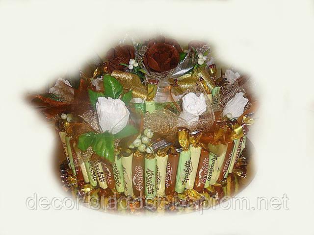 """Букет из конфет""""Шоколадный торт"""""""