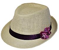 """Шляпы женские оптом Джокер солома цветы """"Орхидея""""."""