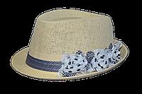 Шляпы женские оптом Джокер солома цветы черно-белые.