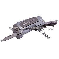 Зажигалка карманная с ножом штопором и открывалкой Украина (острое пламя) №022