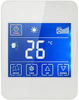 Сенсорный программируемый терморегулятор для теплого пола iREG T6 белый (японское реле)