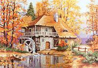 G481 Осенний пейзаж. Luca-S. Набор для вышивания нитками (гобелен)