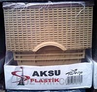 """-Комод пластиковый  """"Ротанг, бежево-коричневый"""", фирма AKSU. Производитель Турция"""