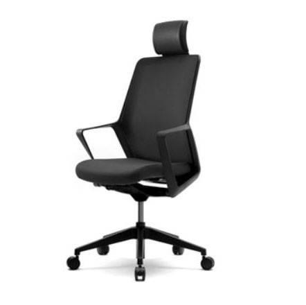 Кресло для компьютера с подголовником FLO black