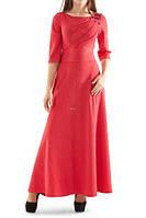 Платье вечернее длинное с украшением, фото 1