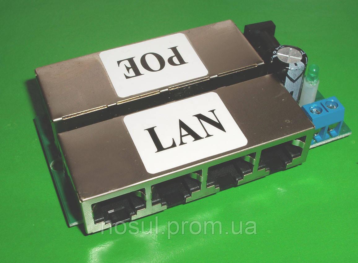 Инжектор PoE 4 портовый LAN Port Passive 10/100BASE-TX