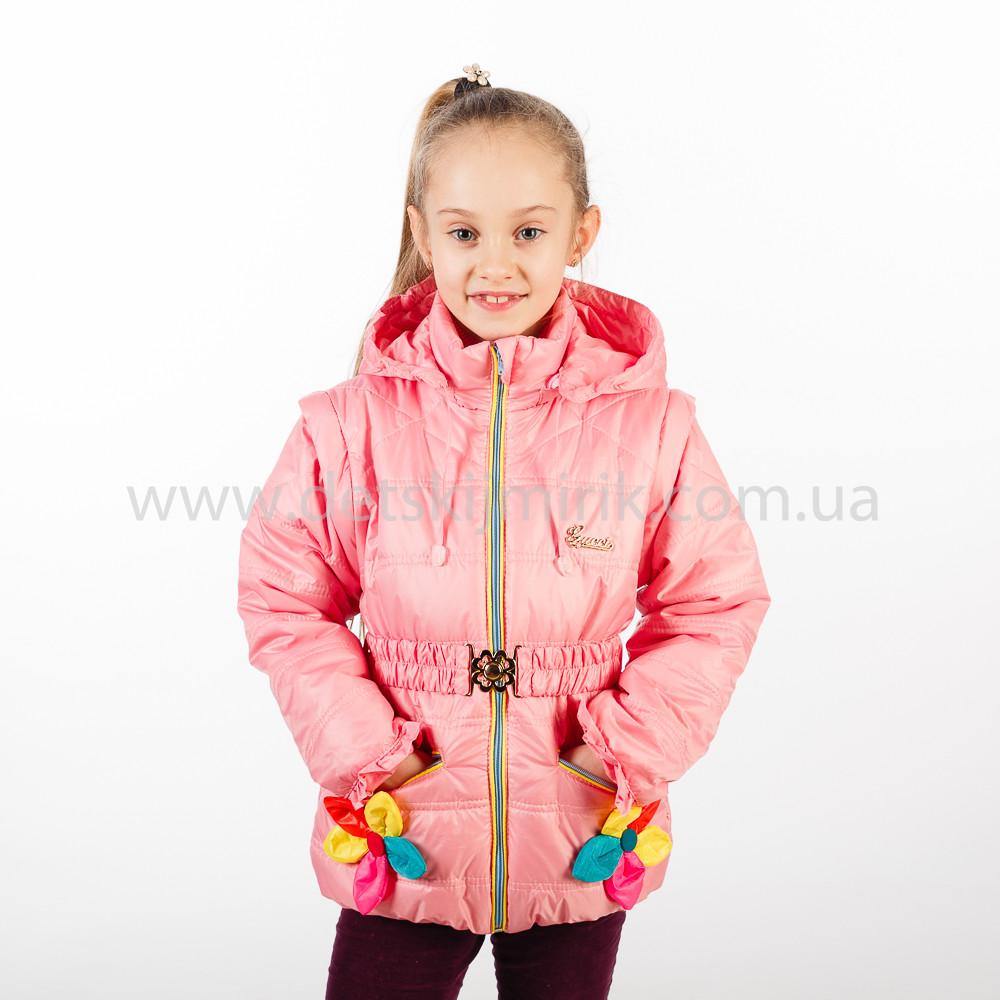 Демисезонная куртка - жилет на девочку