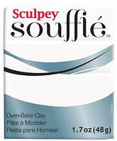 Новинка! Полимерная глина Sculpey Souffle Скалпи Суфле, белый 6001