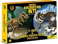 """Набор юного палеонтолога Geoworld """"Ти-Рекс и Саблезубый тигр"""", фото 1"""