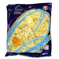 """Воздушные шары Gemar пастель 12""""(30 см) слоновая кость 100 шт, фото 1"""