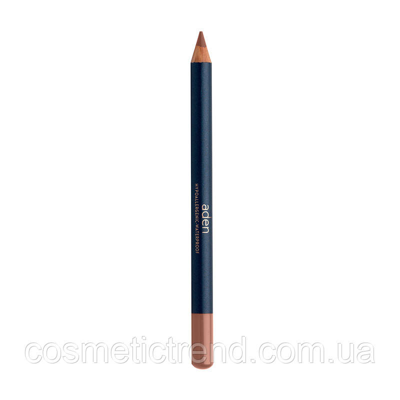 Карандаш для губ водостойкий деревянный Lipliner Nude N46 (натуральный бежево-розовый) Aden Cosmetics