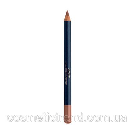 Карандаш для губ водостойкий деревянный Lipliner Nude N46 (натуральный бежево-розовый) Aden Cosmetics , фото 2