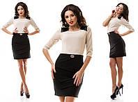 Платье женское повседневное на плечах вставки № 7086 ел